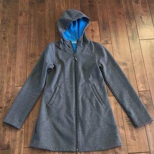 Athlete Long Hooded Sweatshirt Jacket